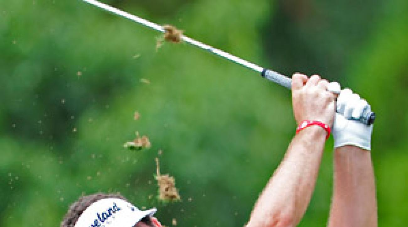 Keegan Bradley, who leads the Tour Championship, is the only 2011 major champion in the field at East Lake.