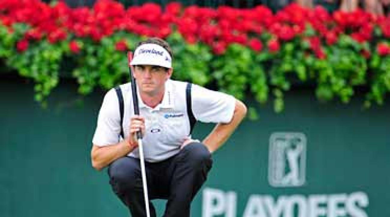 Keegan Bradley fired a six-under 64 to take the lead.