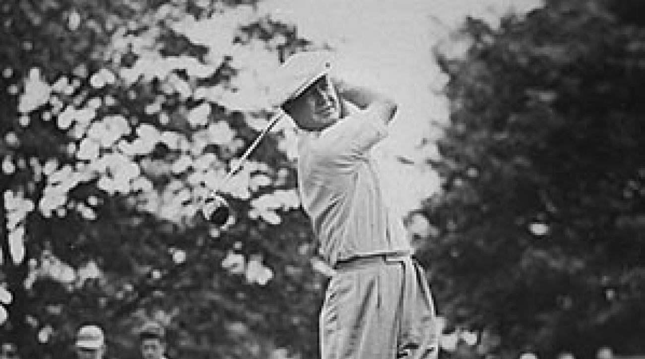 Byron Nelson in 1945 at the Chicago Victory National Open, one of the 11 tournaments he won during the streak.