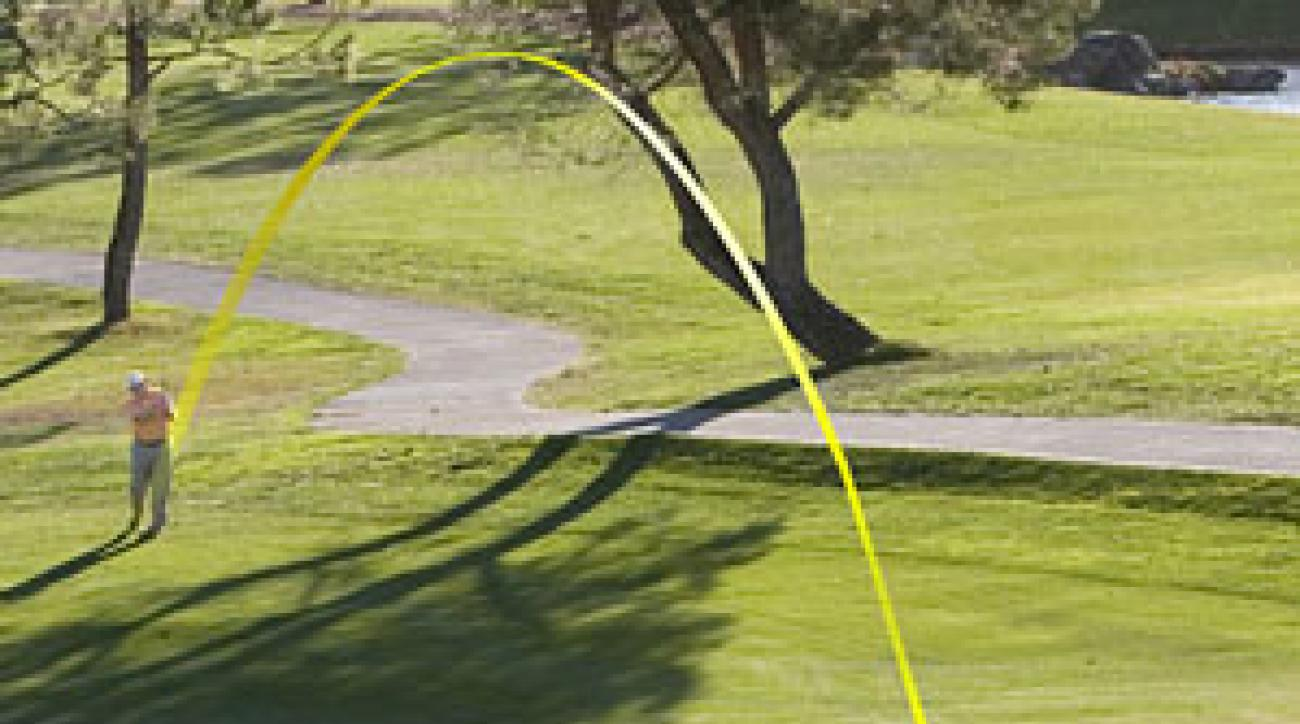 """<strong>THE SCRAMBLER:</strong> Recreational players get                 up-and-down after missing                 the green much less than                 Tour players, especially                 from the rough. You can                 use my """"two-target""""                 system to upgrade                 your short game to nearer                 Tour level."""