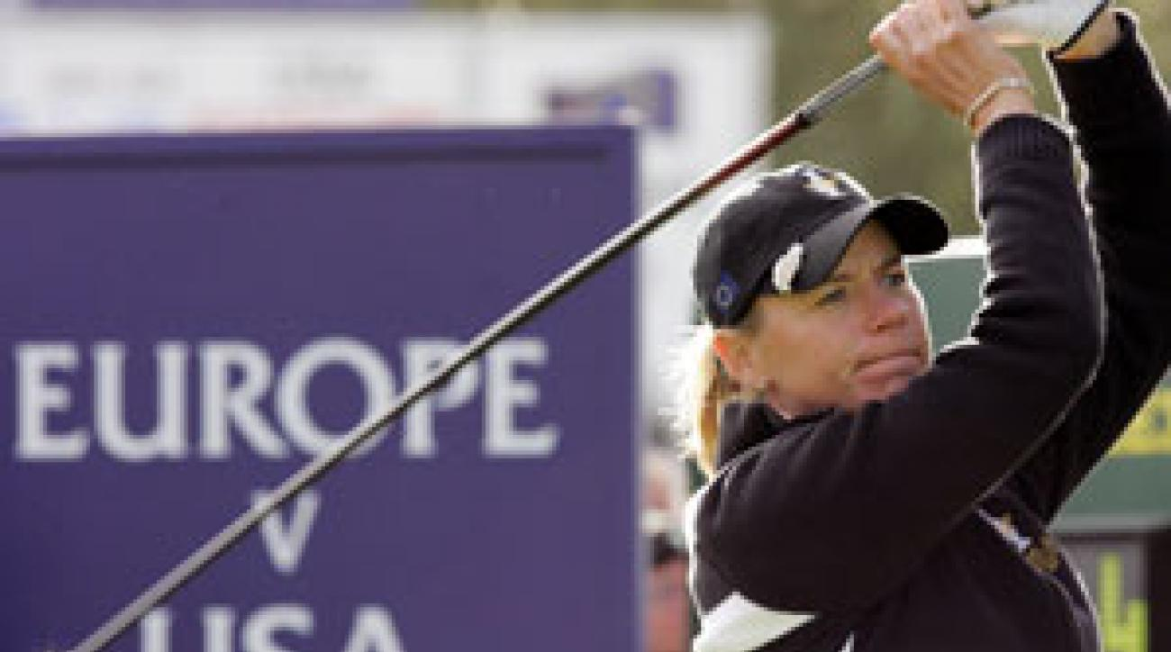 Annika Sorenstam won her match 1-up.