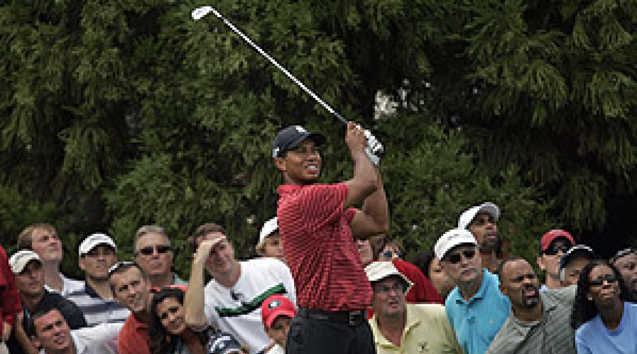 Woods bogeyed the par-3 second hole on Sunday.