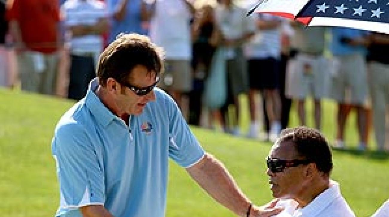 """""""Well, meeting him was just an incredible moment,"""" Faldo said."""