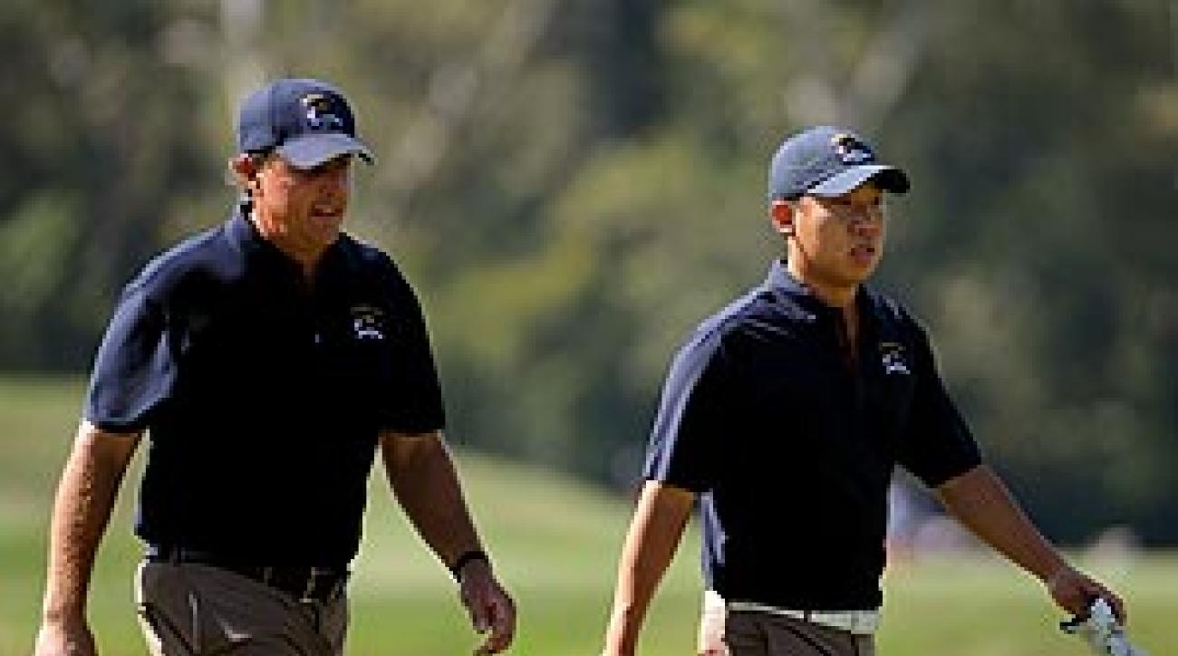 Phil Mickelson and Anthony Kim are paired together for the U.S. team.