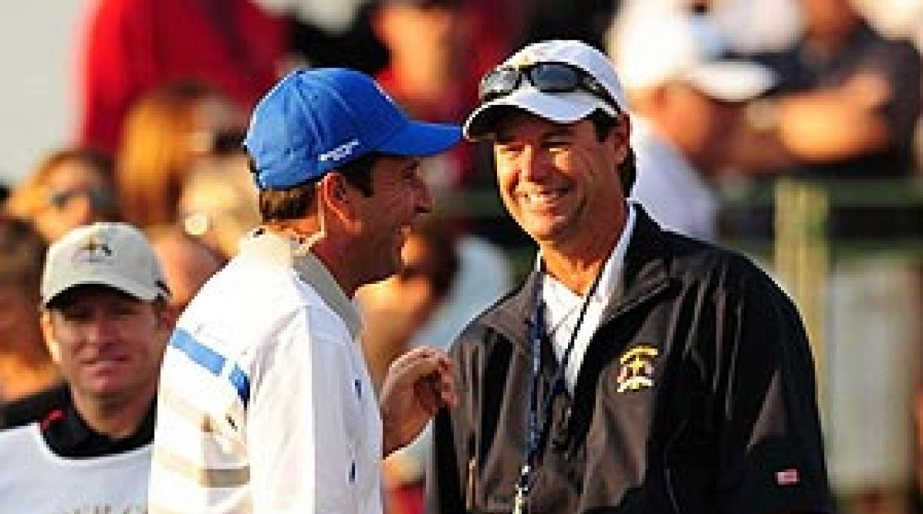 Paul Azinger with Jose Maria Olazabal