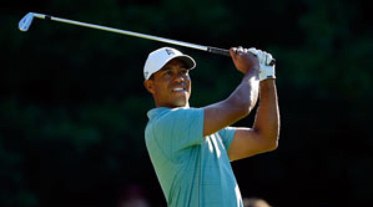 Tiger Woods shot a seven-under 64.