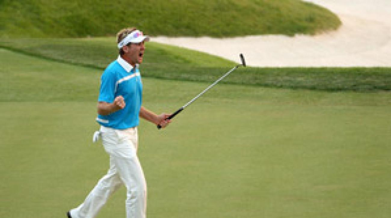 Ian Poulter won two points for Europe on Saturday.