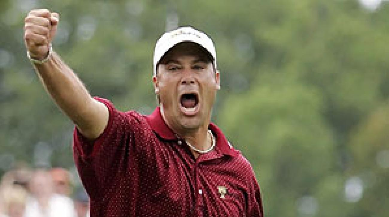 Chris DiMarco sank a birdie putt to give the Americans the win in 2005.