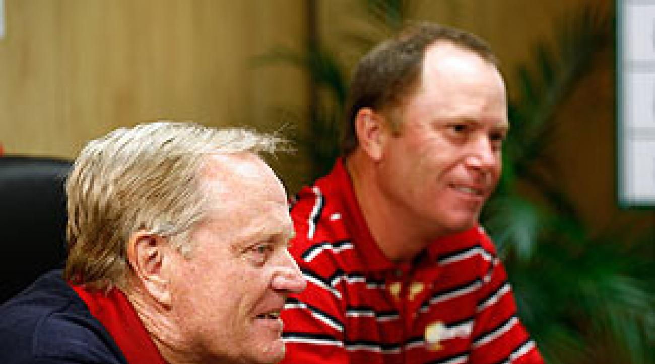 Jack Nicklaus, captain of the U.S. team, and Jeff Sluman, assistant captain, made their picks on Wednesday for the first round of the Presidents Cup.