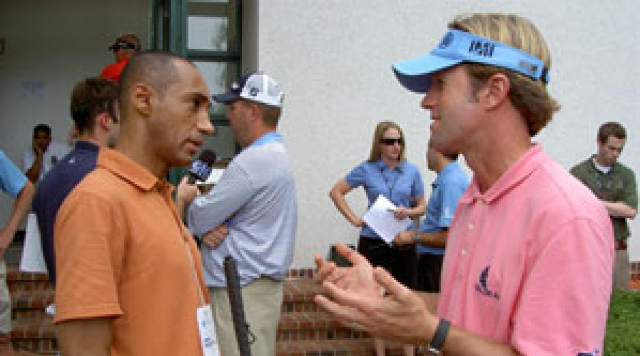 Suleiman interviewed several Tour pros, including Brett Quigley.