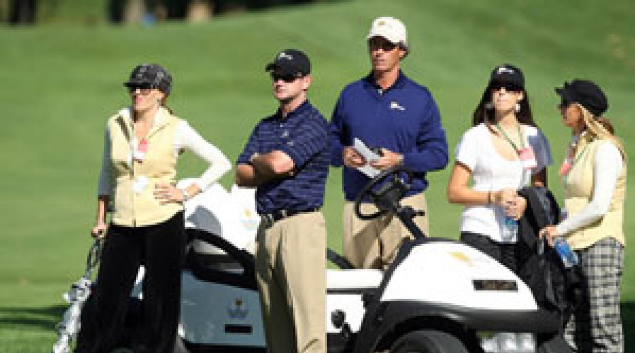 Rory Sabbatini, second from left, is saying all of the right things this week.