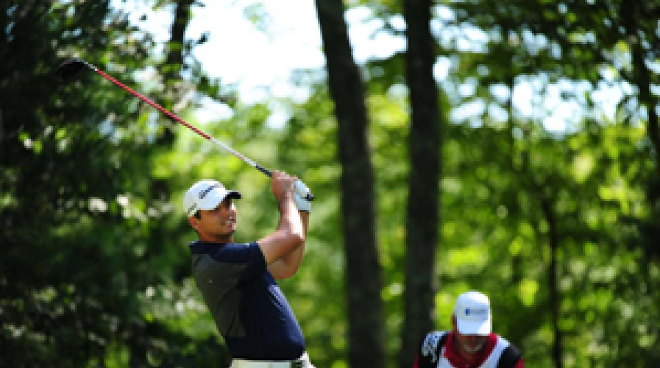 Jason Day made four birdies and no bogeys on Saturday.