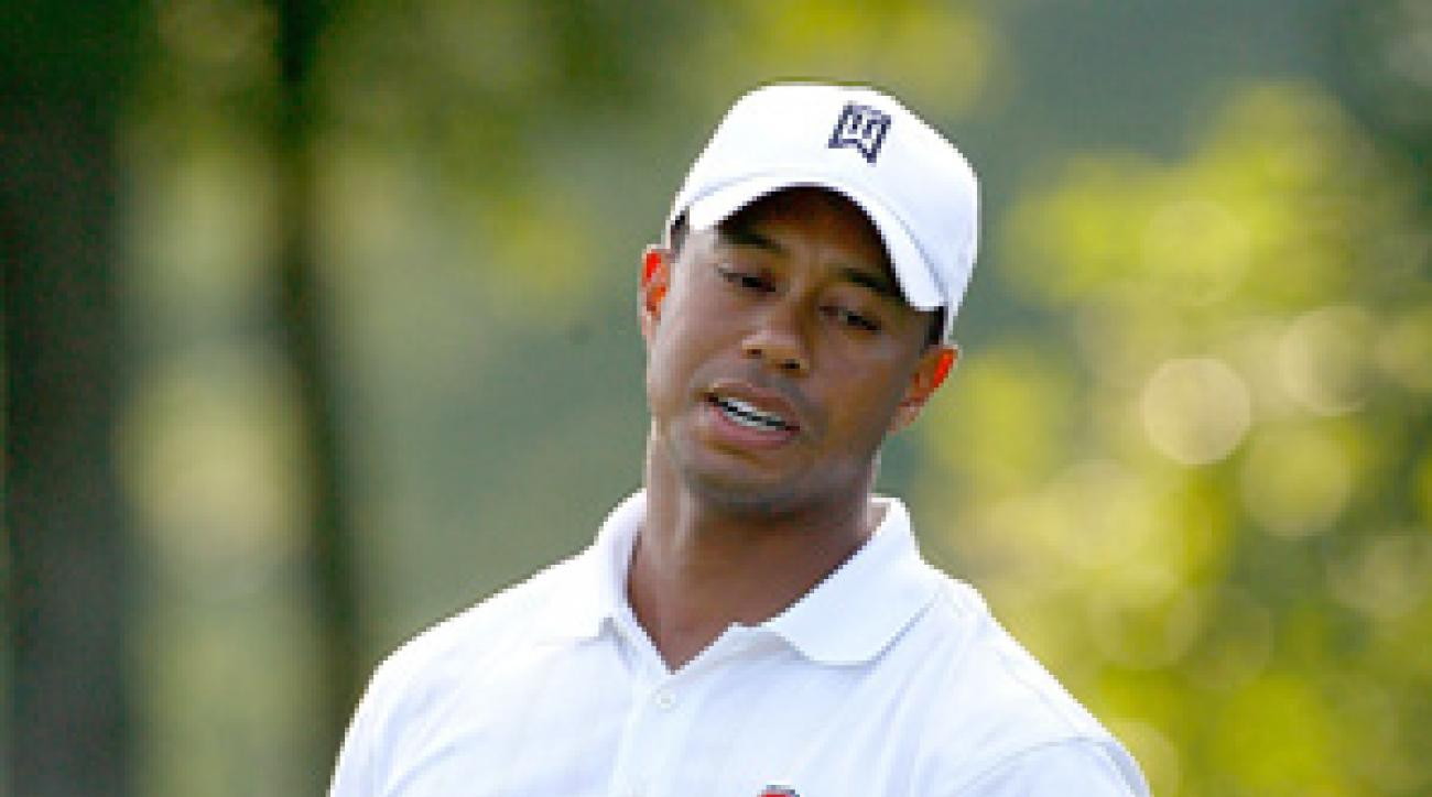 Tiger Woods took 29 putts on Saturday.