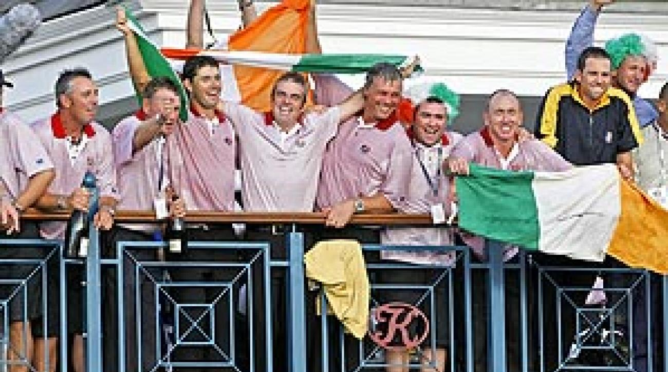 At the K Club in '06, the Europeans exhibited the same bond in their celebration that they demonstrated in again thrashing the Americans.