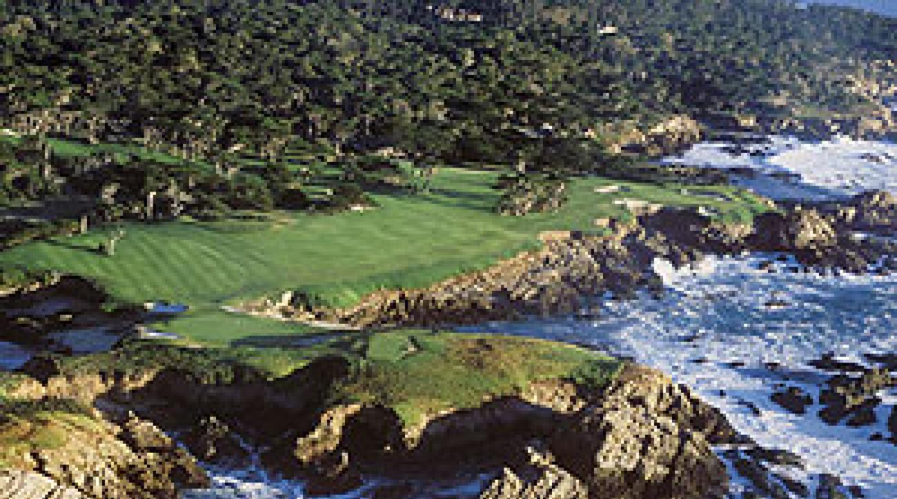 The 17th at Cypress Point, one of the most dramatic views in the game.