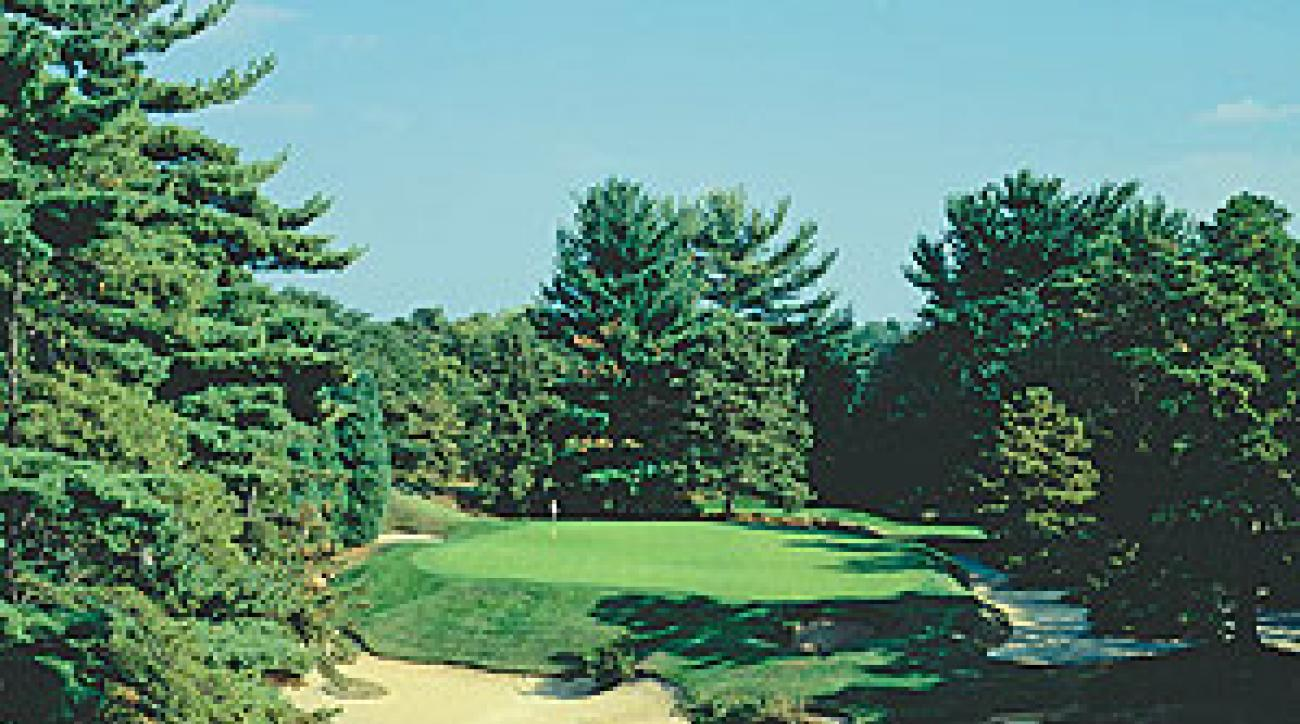 The par-3 10th hole at Pine Valley, once again our panelists' choice for World No. 1.