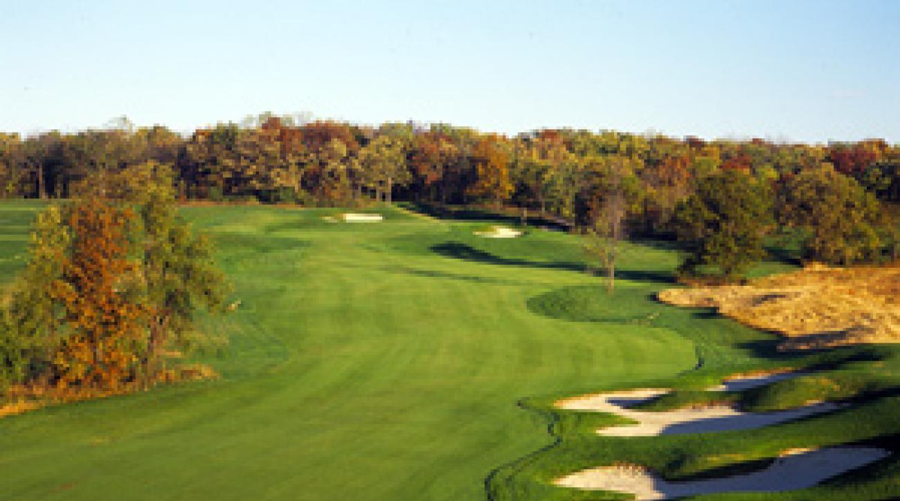 Stern examination: The 587-yard 9th hole at University Ridge.