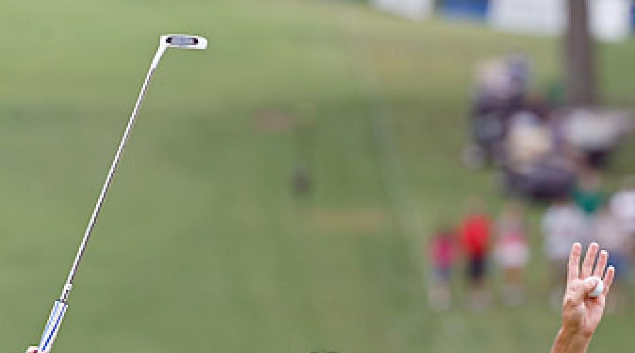 Garcia won the Wyndham Championship last week using a caddie from a nearby course.