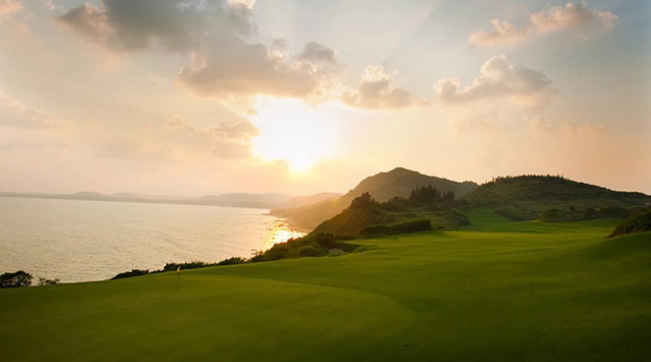 Shanqin Bay Golf Club on Hainan Island in China.