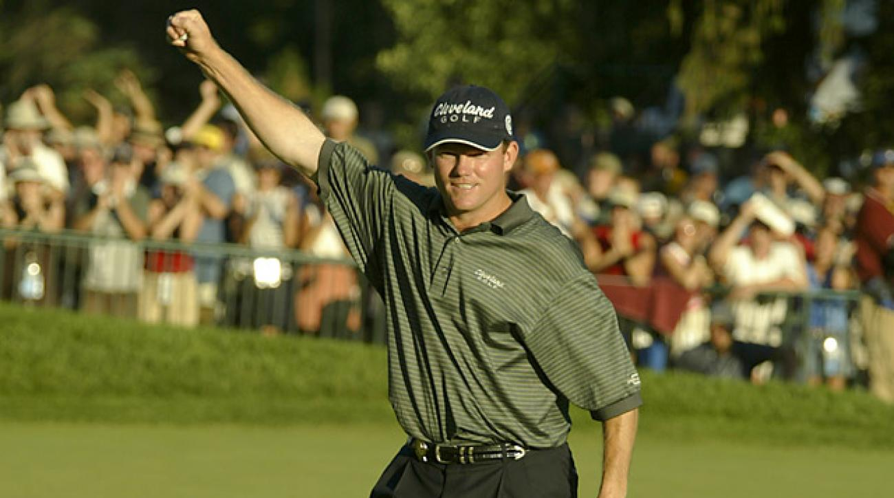 Shaun Micheel won the PGA Championship the last time it was played at Oak Hill in 2003.