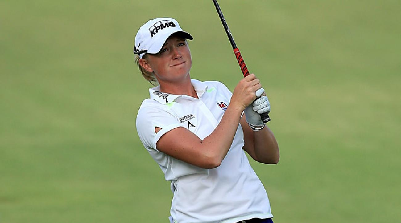 Stacy Lewis shot a two-under 70 in the third round.