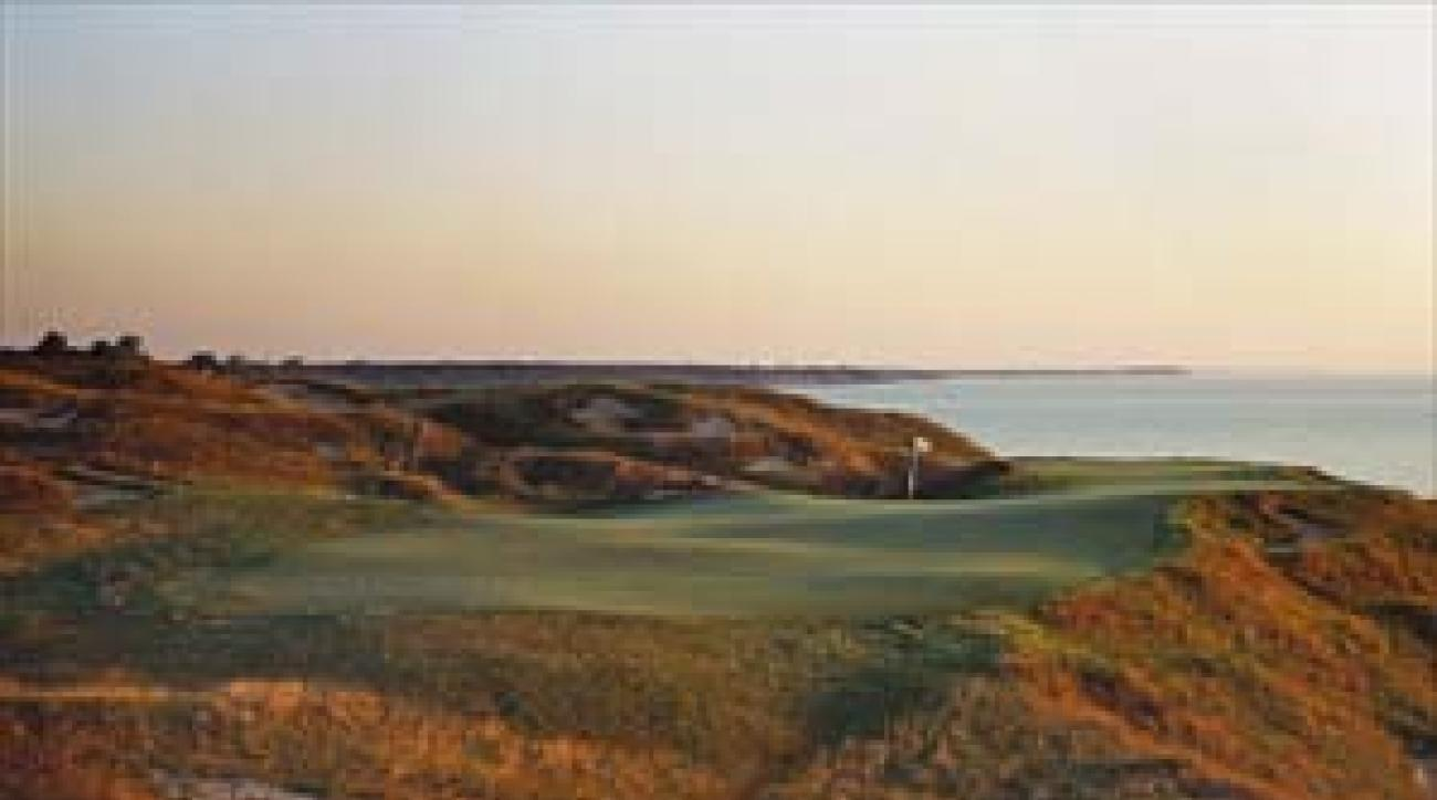 The 166-yard 12th on the Straits Course