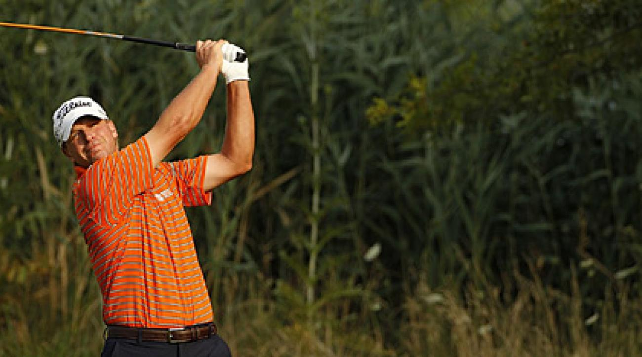 Steve Stricker made five birdies and one bogey on Friday.