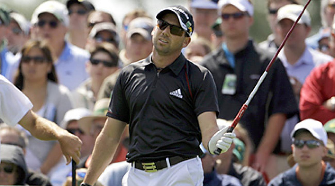 Sergio Garcia withdrew from British Open qualifying because of an infected fingernail.
