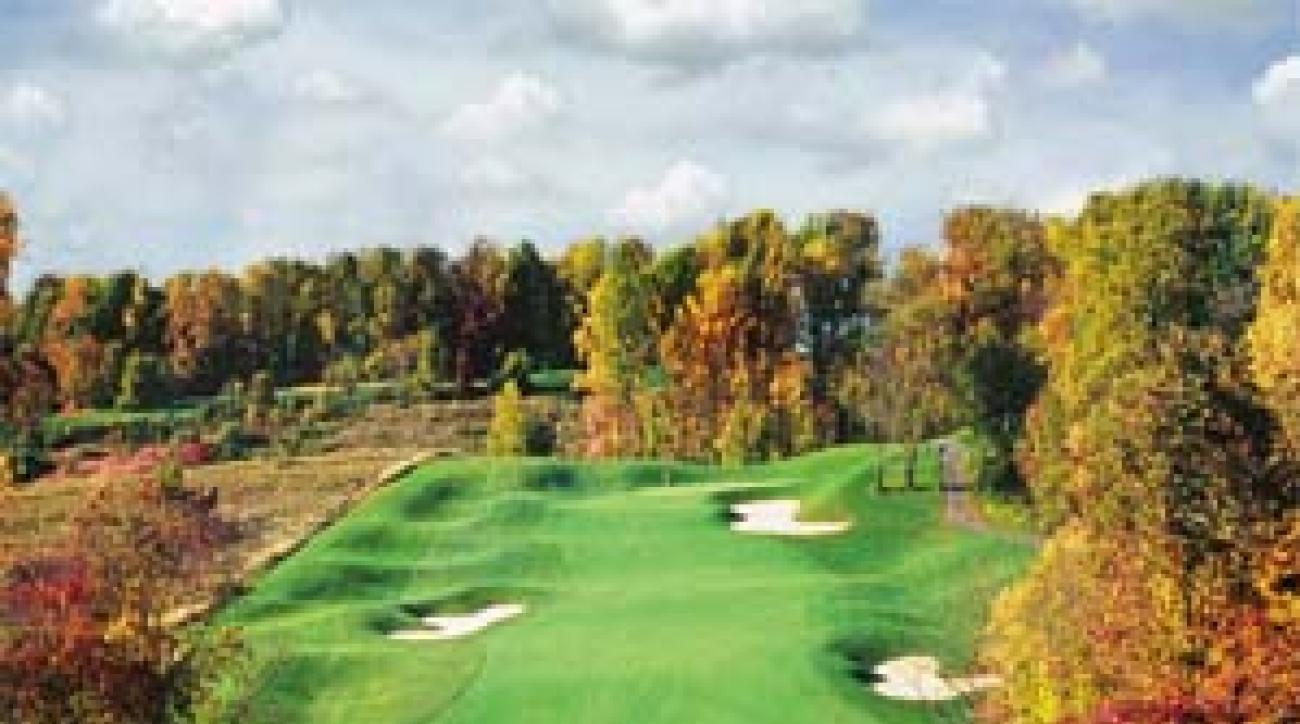 The 387-yard 4th hole at Tattersall Golf Club