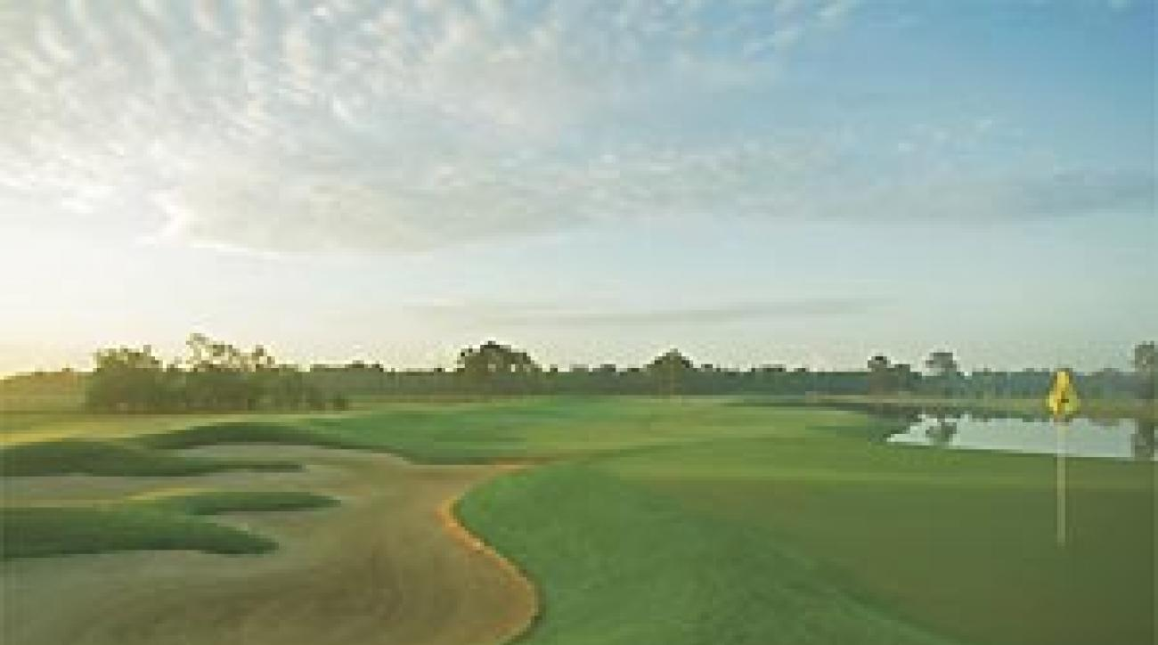 Finishing touches: The 18th at Redstone.