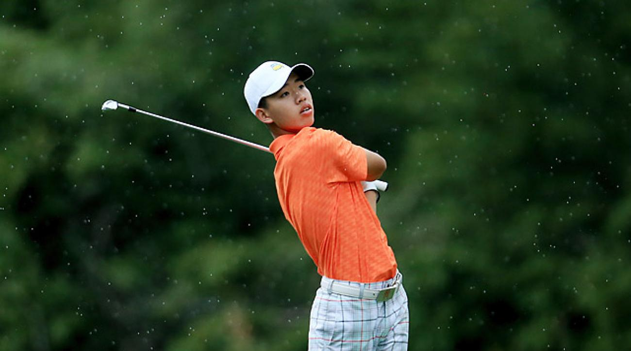 Guan was assessed the first stroke penalty for slow play since the 2004 PGA Championship.