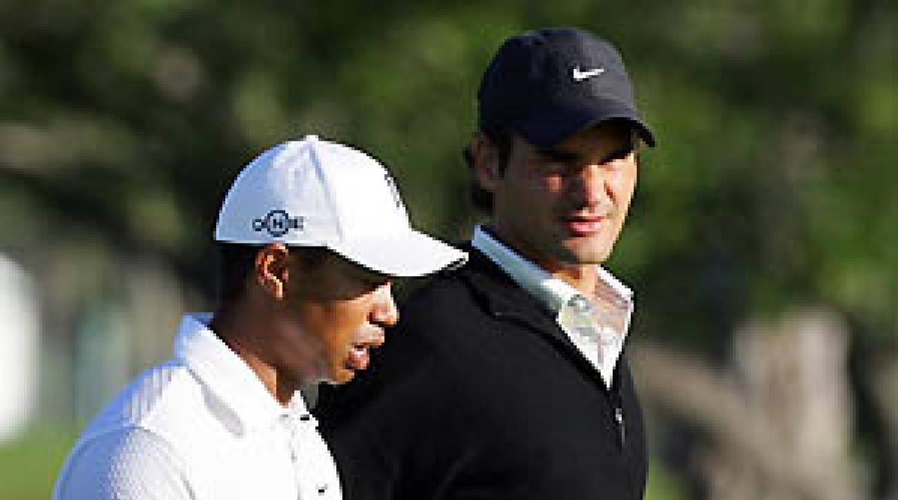 Tiger Woods invited Roger Federer to join him inside the ropes at Doral on Wednesday.