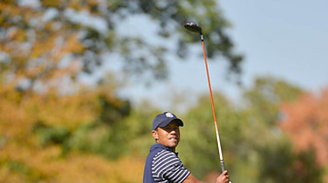 Tiger Woods has a 4-1-1 record in Ryder Cup singles matches. He'll face Francesco Molinari in the final match of the day.