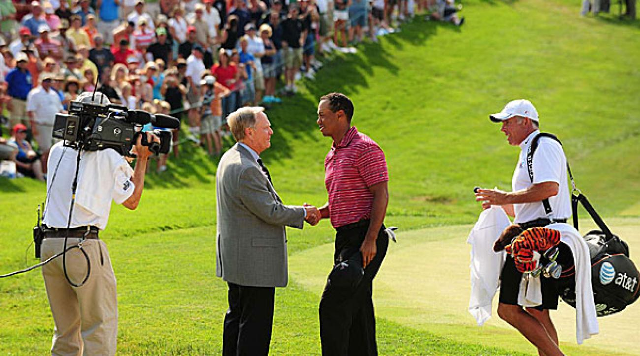 <strong>Final Round at the Memorial</strong><br /><br />Tiger Woods added another dramatic victory to his resume at the Memorial on Sunday. He birdied three of the last four holes to shoot 65. It was his fourth win at Jack Nicklaus's tournament and his 67th on the PGA Tour.