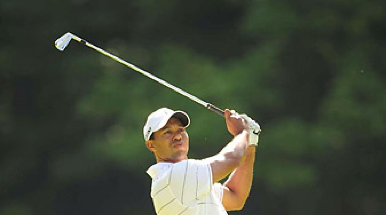 Tiger Woods shot a two-under 70 in the first round at the Memorial.