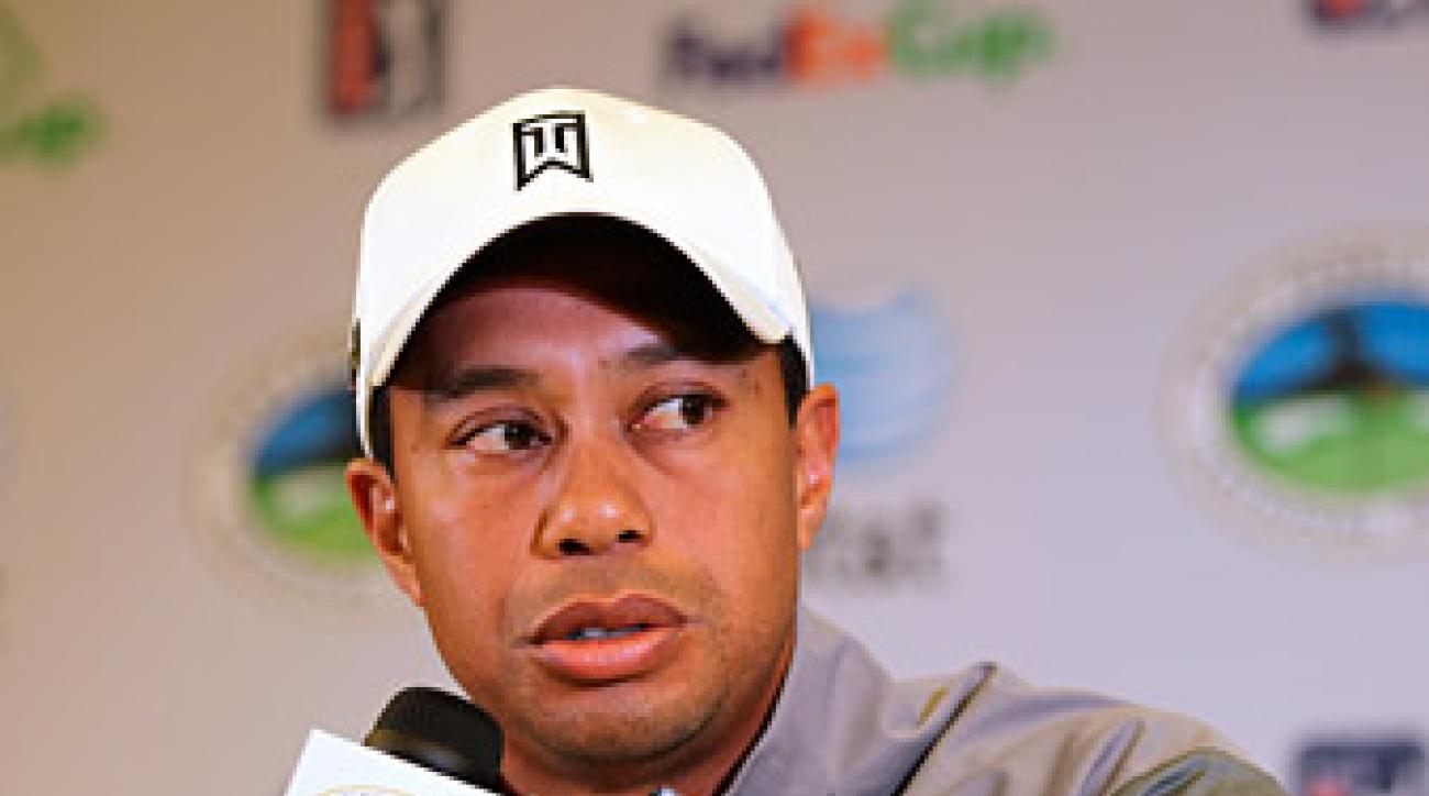 At the press conference, Woods revealed that he is fundamentally opposed to belly putters