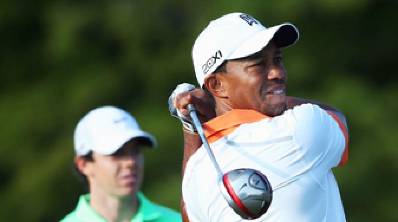 Tiger Woods and Rory McIlroy played a practice round together on Wednesday.