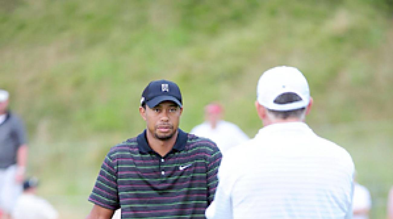 Tiger Woods, Monday at Whistling Straits
