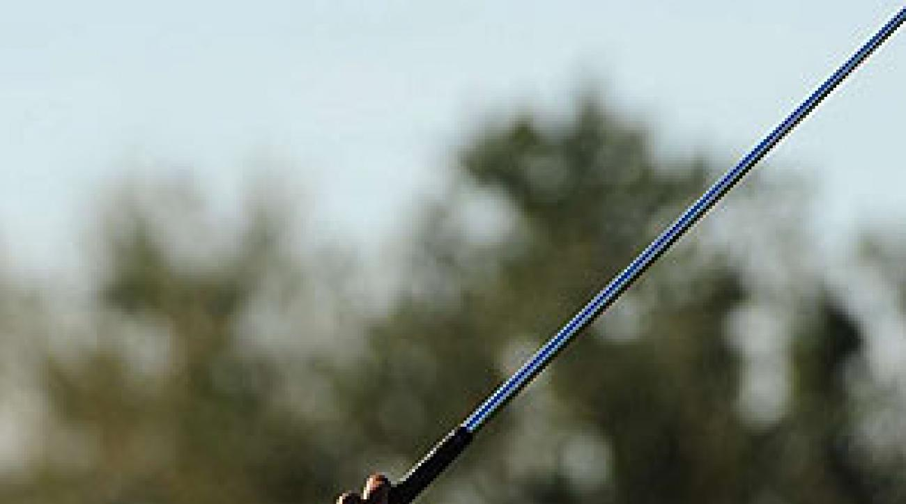 Tiger Woods played a practice round early Tuesday morning.