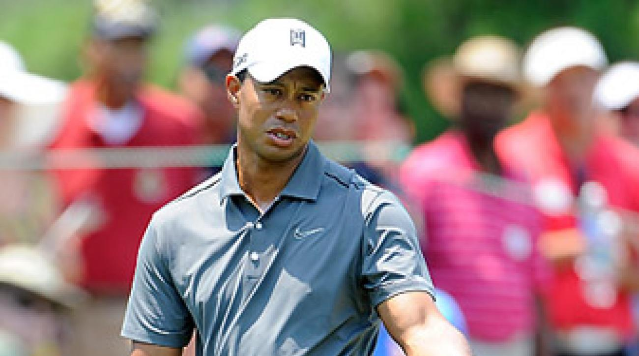 """Woods struggled to an opening-round 72 at Congressional. <p><strong><a href=""""http://www.golf.com/photos/2012-att-national"""">More photos</a></strong></p>"""