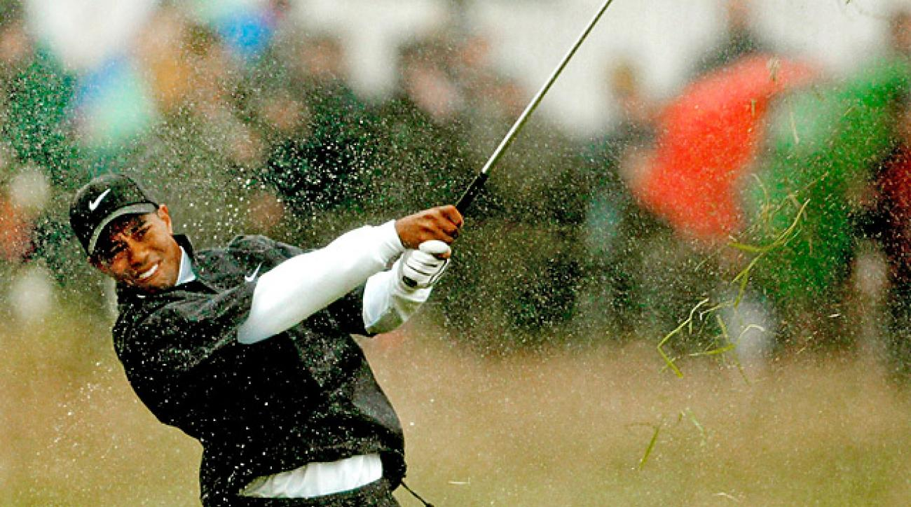 Playing through the worst of the squall, Tiger Woods hobbled home with a 10-over 81, which remains his worst score as a professional.
