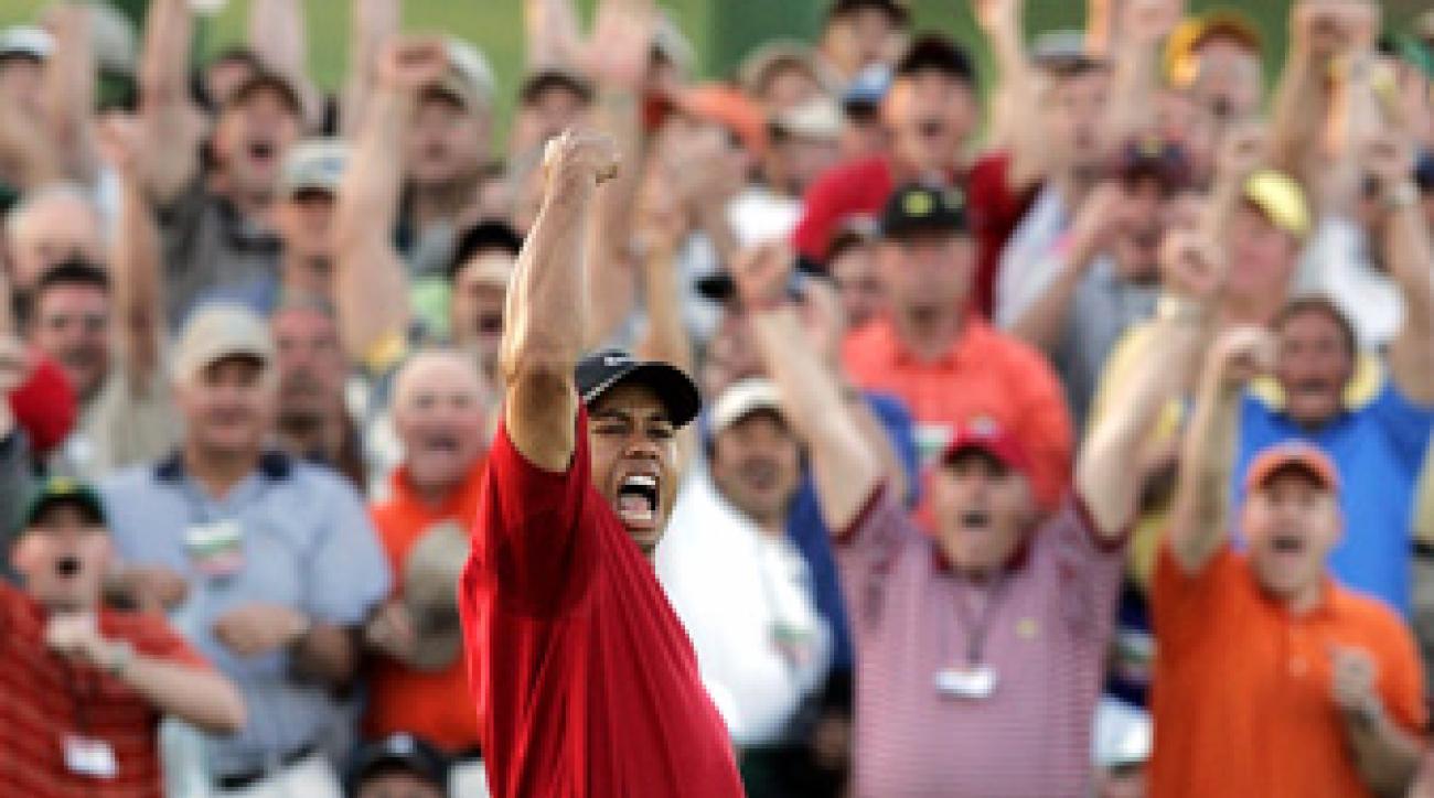 Tiger Woods hasn't won a green jacket since 2005.