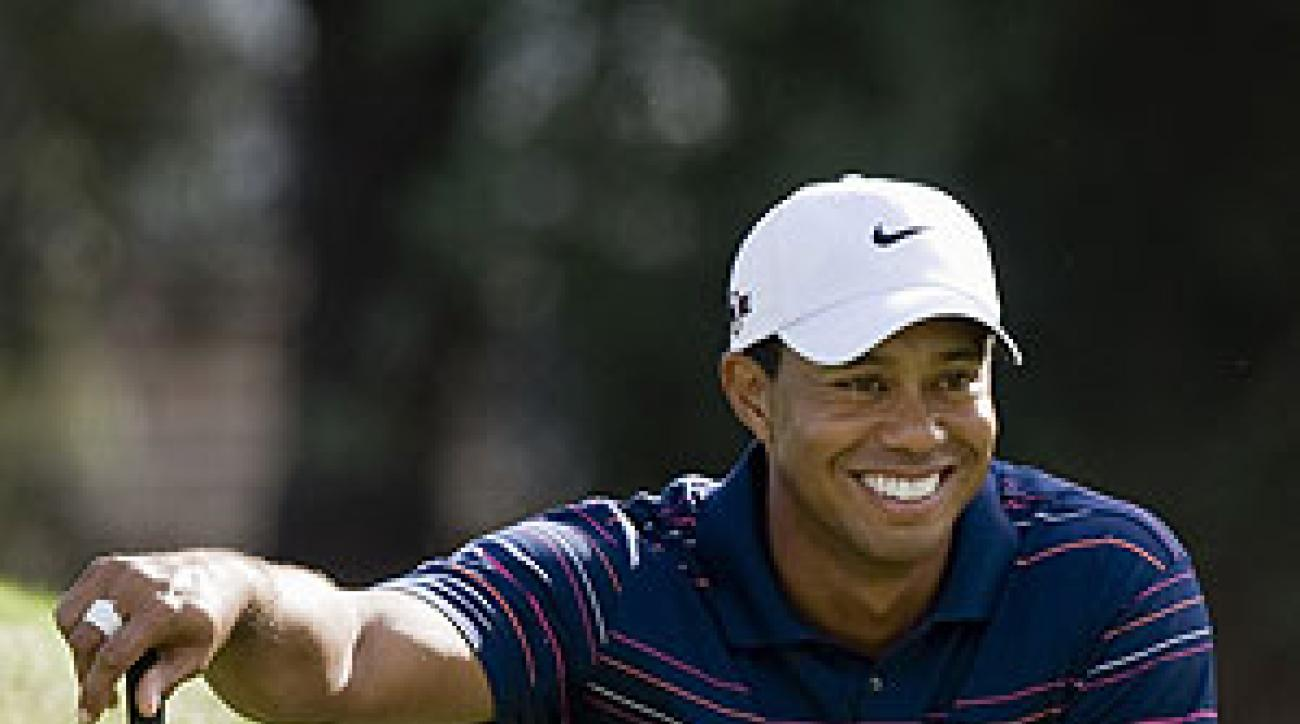 Tiger Woods shot 66 in the first round.