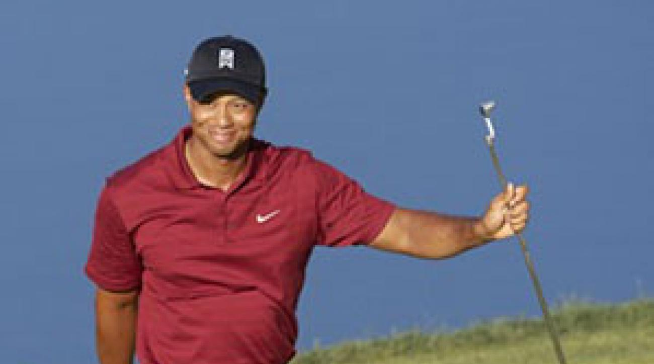 Following a nine-under 62 on Saturday, Woods strolled to his fifth BMW win and 71st overall on Sunday.