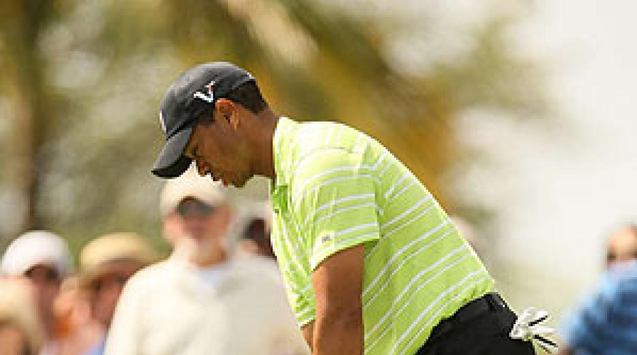 Woods was flustered on the greens.