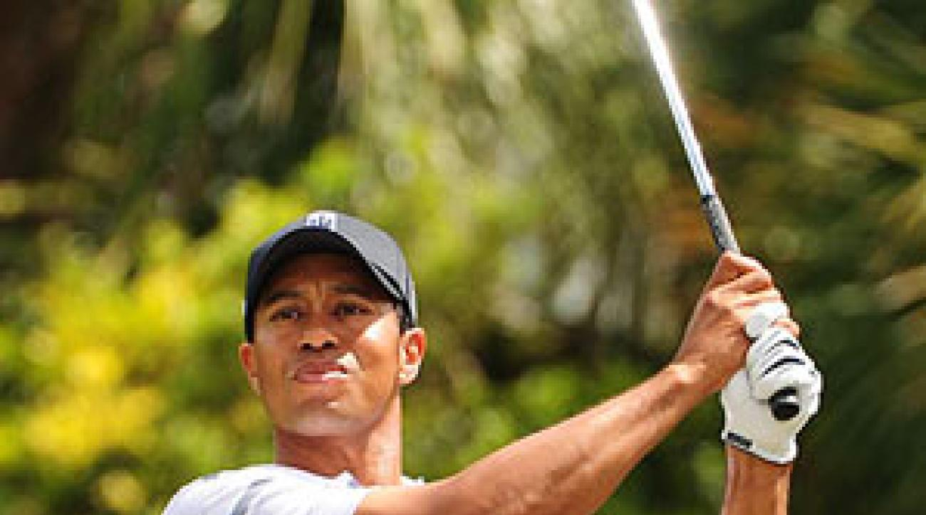 Woods is six strokes off the lead.