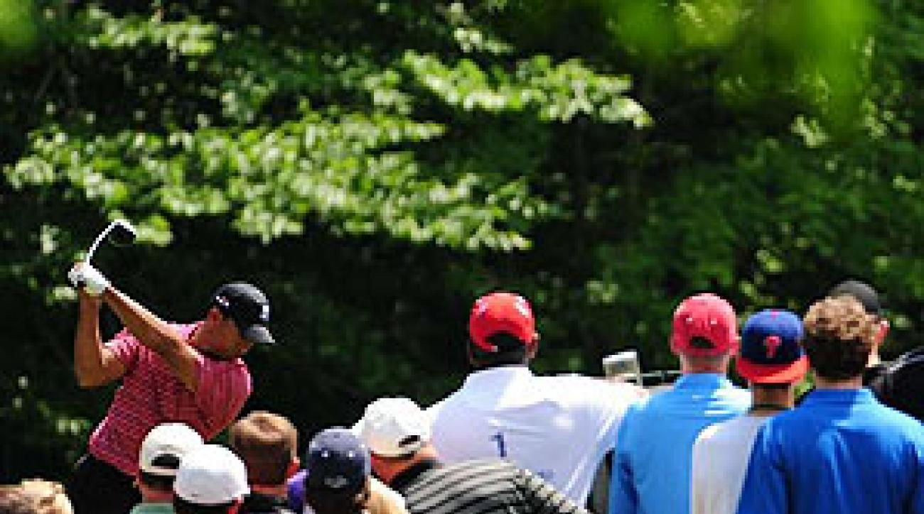 At the Memorial, Woods put on a ball striking show, ranking second in fairways hit (87.5%).