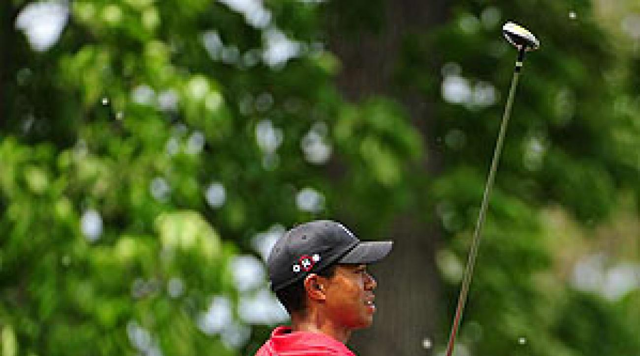 Tiger Woods finished at nine under par.