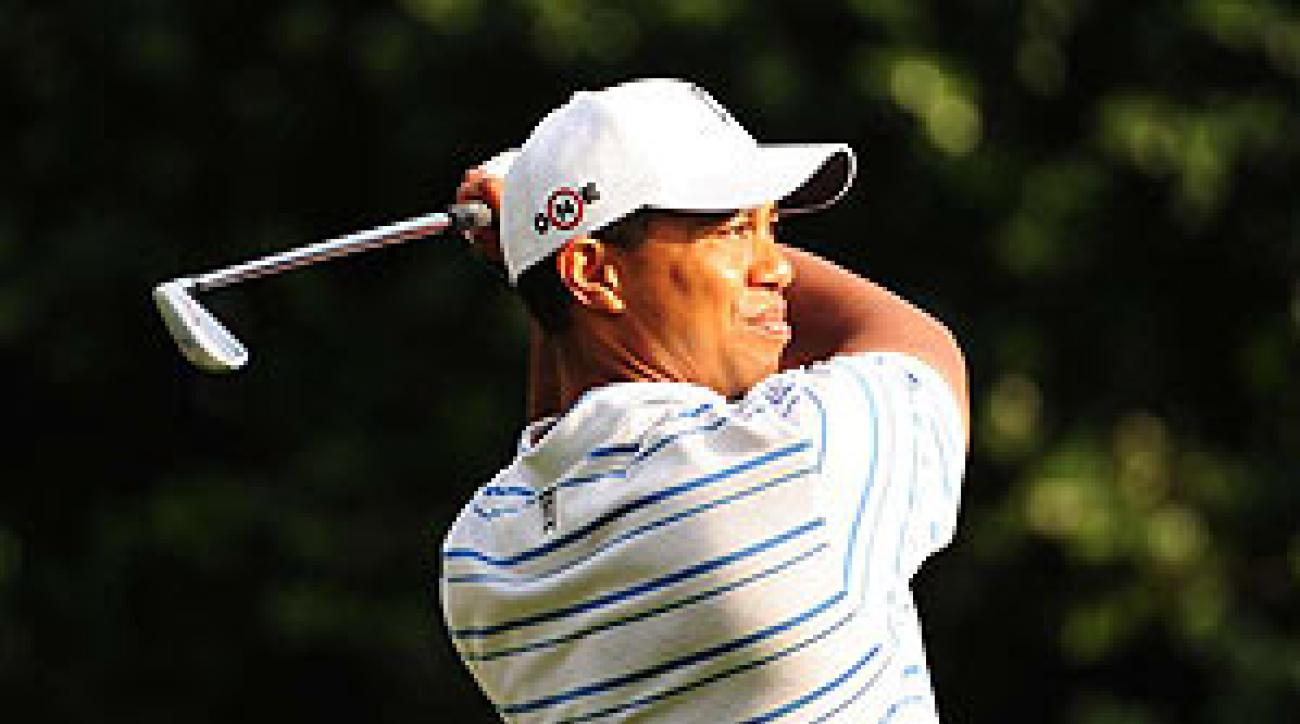 Tiger Woods shot a seven under 65.