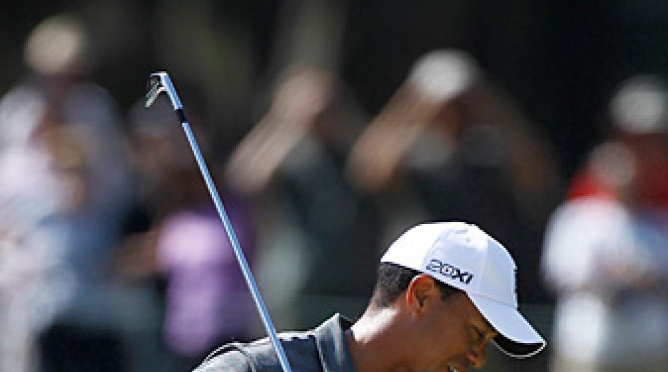 Tiger Woods made five bogeys and three birdies.